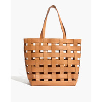 The Medium Transport Tote: Basketweave Edition : shopmadewell totes | Madewell
