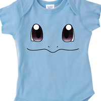 Inspired by Squirtle face Pokemon Onesuit new born to 24 months sizes very cute