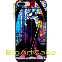Maleficent Pattern Sleeping beauty Glass CASE iPhone 6s/6s+7/7+8/8+,X, Samsung
