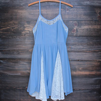 nightingale dress - blue