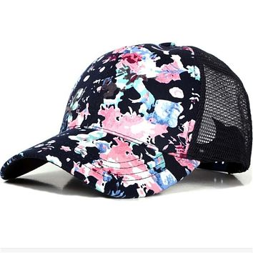 2017 New Women Summer Baseball Caps Snapback Hats Leisure Mesh Breathable Bone Outerdoor Hat Holiday Beach Casquette Ajustable