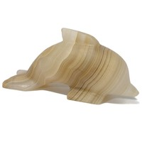 Onyx Dolphin Figurine Paper Weight