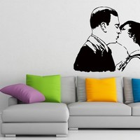 Wall Decals Kissing Couple Love Decal Vinyl Sticker Home Decor Bedroom Interior Window Decals Living Room Art Murals Chu1403