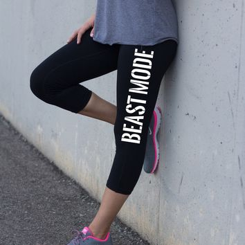Workout Leggings for Women Beast Mode