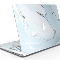 Mixtured Light Blue v9 Textured Marble - MacBook Air Skin Kit