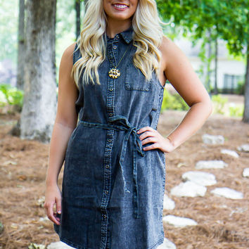 Denim & Dirt Roads Dress - Final Sale