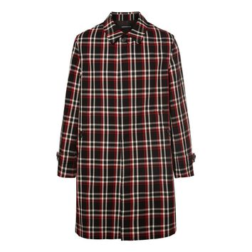 Reflective Checkered Wool Coat by Undercover