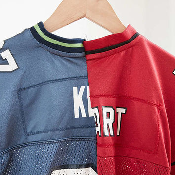 One-Of-A-Kind Arizona Cardinals + Seattle Seahawks 7 Spliced Football Jersey | Urban Outfitters