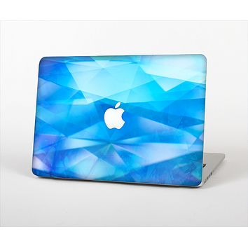 The Blue Abstract Crystal Pattern Skin Set for the Apple MacBook Air 11""