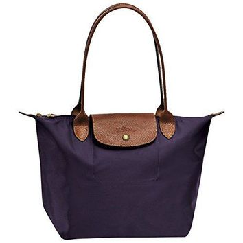 "Small tote bag L ( bilberry ) by longchamp paris "" LE PLIAGE"" 100% authentic original from PARIS FRANCE"