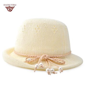 High Quality Lovel Straw Hat Casual Loop Yarns Cute Sun Cap For Women Casquette Girl Visor Gorras For Beach And Birthday Gift