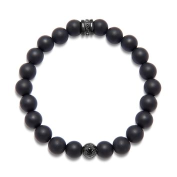Men's Wristband with Matte Onyx and Black