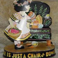 "1998 Mary Engelbreit ""Just A Chair of Bowlies"" Bobble Metal Art"