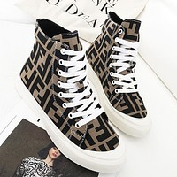 Fendi Fashion New More Letter Print Canvas Running Leisure Women Shoes