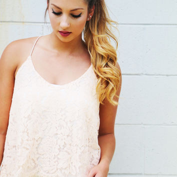 Little Moments Lace Tank