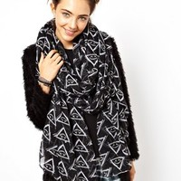 ASOS Oversized Eye Print Scarf