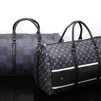 Gotopfashion Louis Vuitton Travel Bag Leather Tote Handbag Shoulder Bag