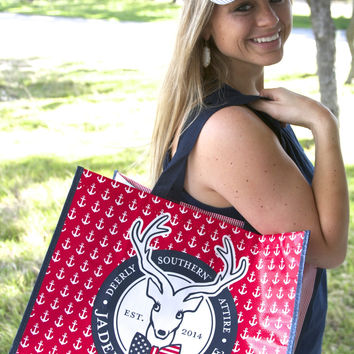 Patriotic Tote Bag by JADELYNN BROOKE