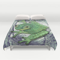Tree Frog Duvet Cover by ArtLovePassion