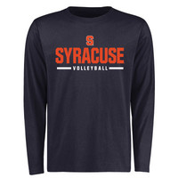 Syracuse Orange Custom Sport Wordmark Long Sleeve T-Shirt - Navy