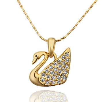 Gold Plated Peaceful Dove Necklace