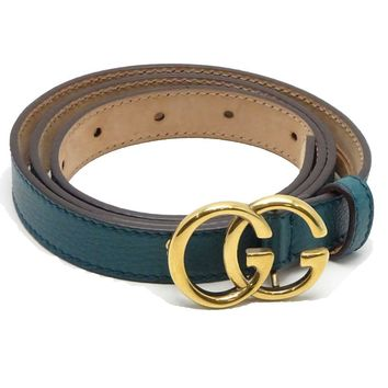 Authentic GUCCI Women's GG Marmont Belt 85/34 269818 Blue /041736 FREE SHIPPING