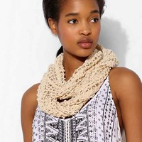 Staring At Stars Crochet Braid Eternity Scarf- Tan One