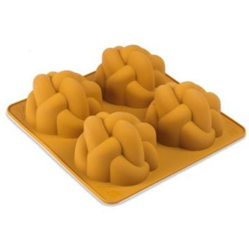 The Kosher Cook Royal Challah Challettes Silicone Bread Mold