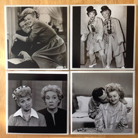 I love Lucy Coasters, Black and white, Lucille Ball, Desi Arnaz, Lucy and ethel, Classic tv show, comedy, mothers day gift, classic love,