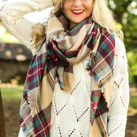 A Bit Chilly Plaid Scarf