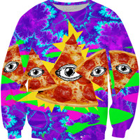Trippy Illuminati Pizzas Sweatshirt