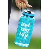 Good Vibes Only Timer Bottle in Aqua