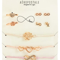 Aeropostale Womens Infinity Jewelry 7-Pack,