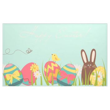 Easter Eggs with Chocolate Bunny Indoor Decorating Banner