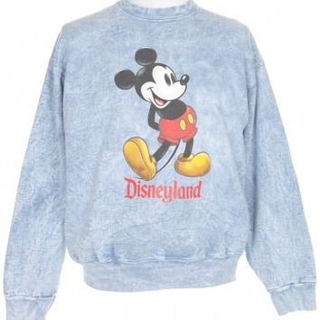 Blue Disneyland Sweatshirt - Vintage clothing from Rokit - sweatshirt, jumper