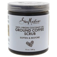 100% Virgin Coconut Oil Coffee Scrub by Shea Moisture for Unisex - 12 oz Scrub