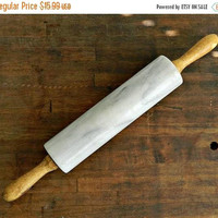 ON SALE Old Rolling Pin, Vintage Marble Rolling Pin, Antique Rolling Pin, Chippy, Rustic, Primitive, French Farmhouse Decor.