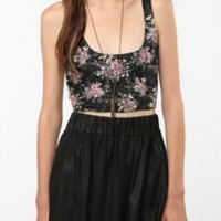 UrbanOutfitters.com > Sparkle & Fade Stretch Lace Crop Top