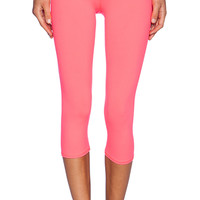 alo Airbrushed Capri in Coral