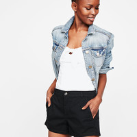 Mid Rise Relaxed Twill Trouser Shorts