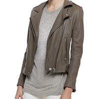 IRO Tara Front-Zip Leather Jacket