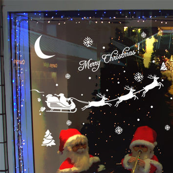 Poster Christmas Decoration Decal Window Stickers Home Decor IUT6519