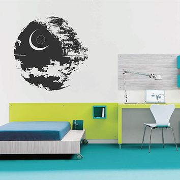 ik2725 Wall Decal Sticker Star Wars Death Star nursery teenager