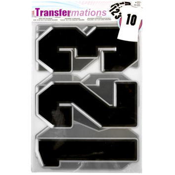 Transfermations™ Iron-On Numbers, Black