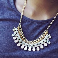 Jewelled statement necklace from Blue Flamingo