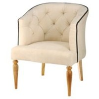 One Kings Lane - Barreveld International - Vintage Canvas Empire Chair