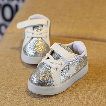 CHAMSGEND Baby Fashion Star Sneaker LED flash Luminous Child Toddler Casual Colorful Light Shoes drop ship july4 P30