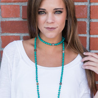 Bliss In Beads Necklace, Turquoise