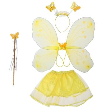 Butterfly Costume Set Fairy Magic Wand Kids Costume