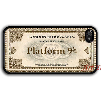 iPhone 4 Case, iphone 4s case -- Hogwarts Express Train Ticket iPhone 4 Case, harry potter iphone 4 case, graphic iphone 4 case, iphone case